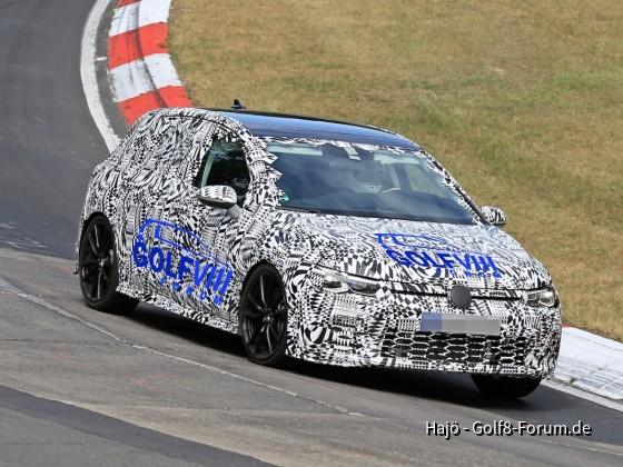 VW Golf 8 GTI - Erlkönig auf Nordschleife erwischt